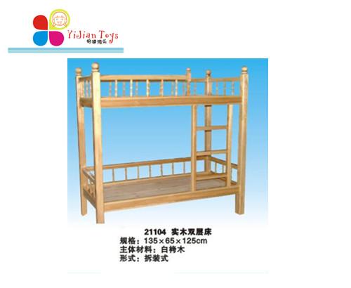 木制幼儿床_上下铺宿舍床儿童-上海怡健游乐